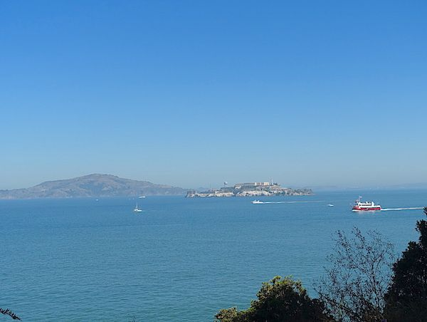 View of the Bay and Alcatraz, the former prison
