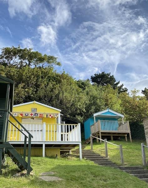 Colourful beach huts in Tankerton beach