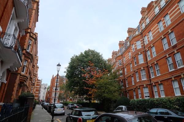 Brick buildings on Kensington Court