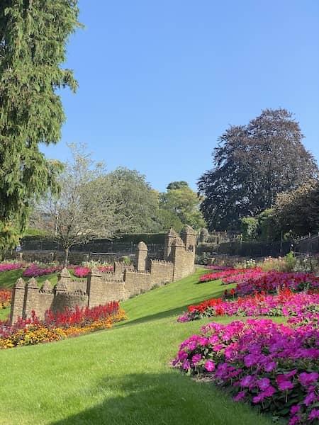 colourful castle gardens