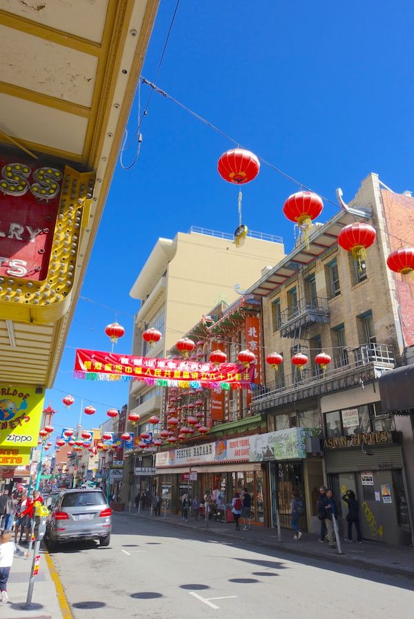 The streets of Chinatown