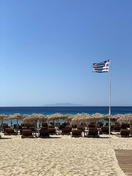 Elia beach and sunbeams