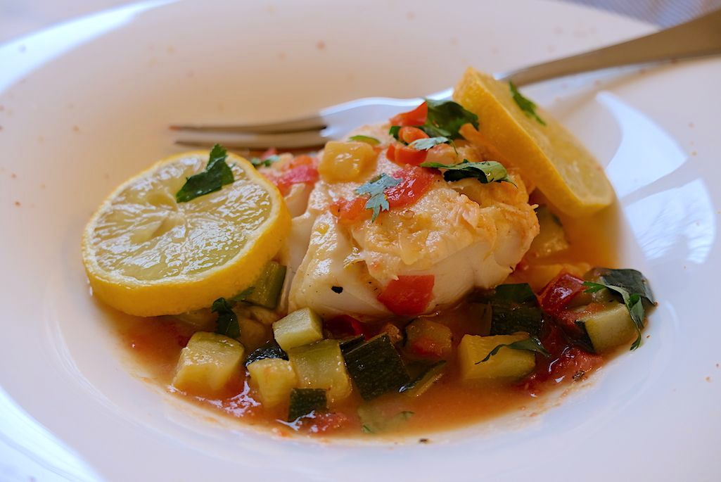 Fish & Courgette in a Spicy Aromatic Juice
