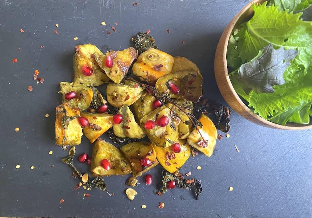 Roasted Squash & Sweet Potato Salad