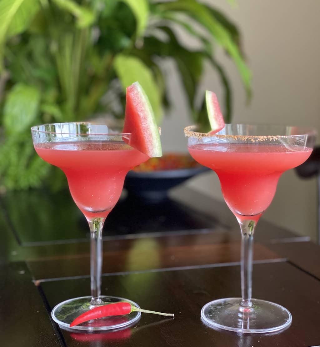 Spicy Watermelon Margarita recipe