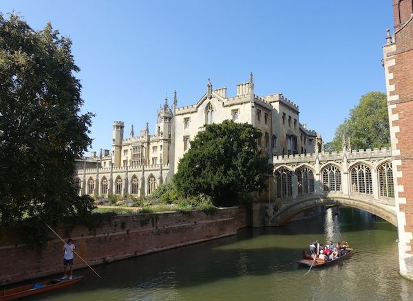 River Cam, the Bridge of Sighs and St. John's College