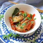 Chicken and bell pepper stir fry