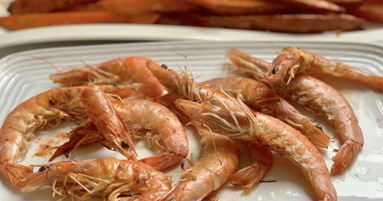 Grilled Prawns Marinated with Coarse Sea Salt
