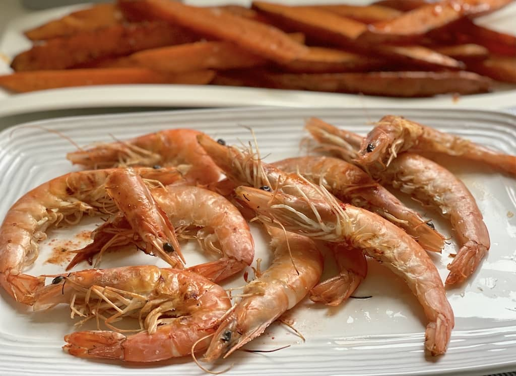 Grilled Prawns Marinated with Coarse Sea Salt
