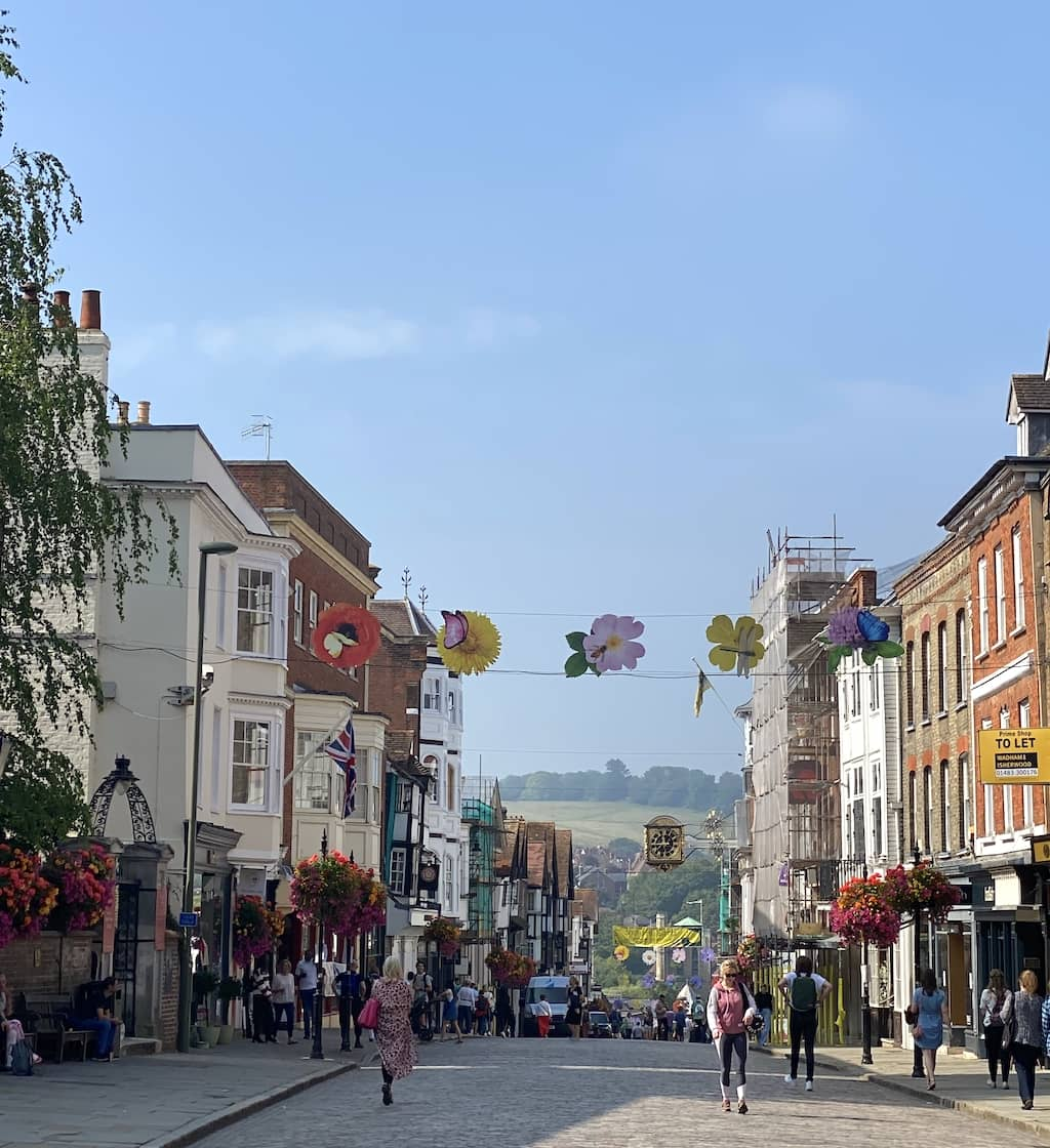 Guildford; an English town with picturesque gardens