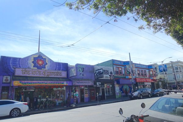 The colourful and fun shops on Haight Street
