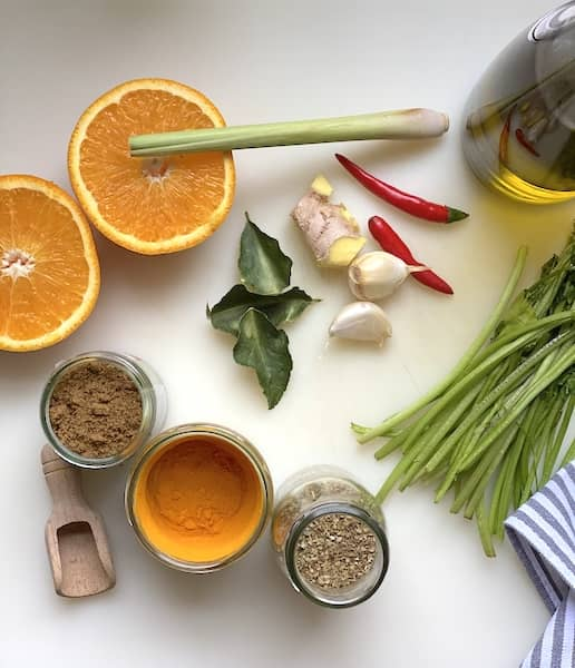Ingredients for the base sauce