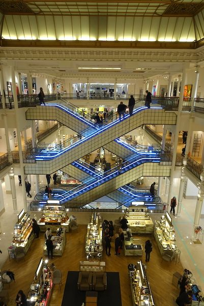 The central stairs at Le Bon Marche