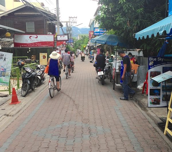street in Thai market