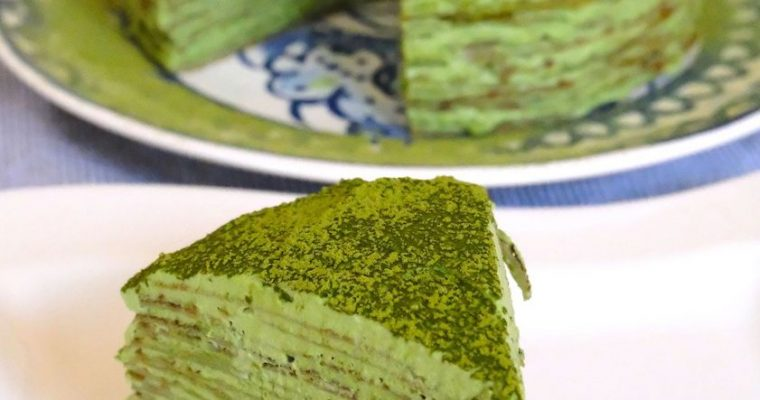 Matcha Mille Crepe Cake Recipe