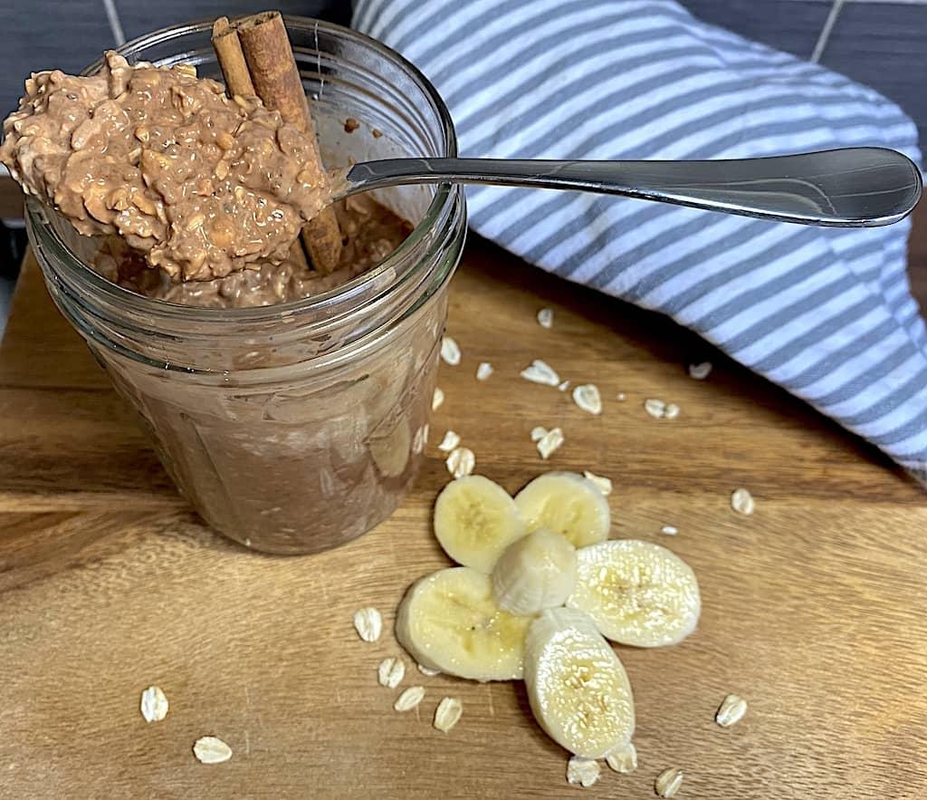 Banana & Cocoa Overnight Oats