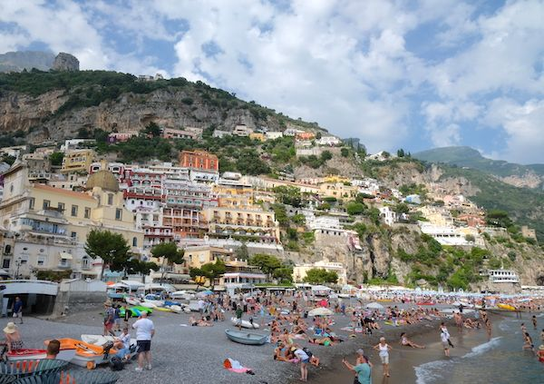 Positano from the port