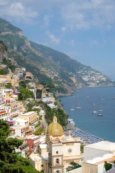 views of Positano from the top