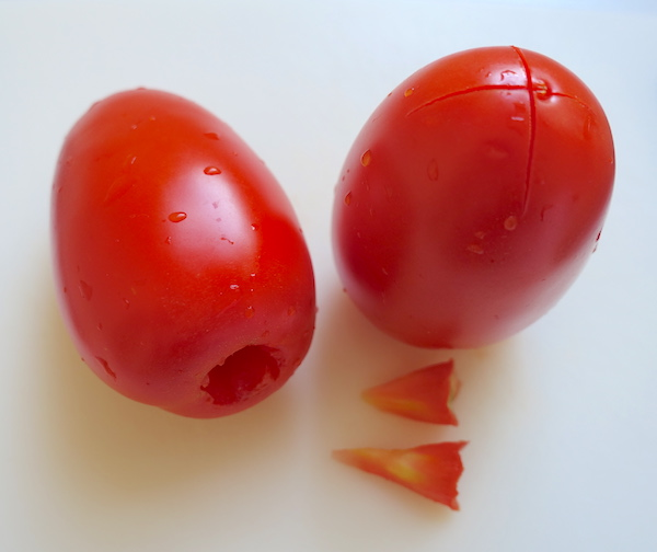 Prepping tomatoes