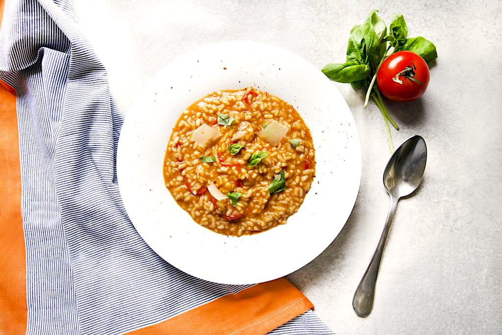 Tomato and Red Bell Pepper Risotto Recipe