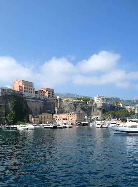 The port seen from the sea