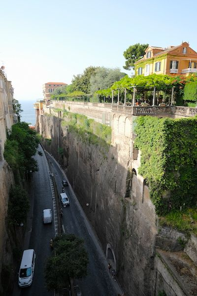 The road that goes from Piazza Tasso to the port
