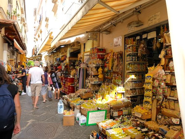 shopping streets of Sorrento city