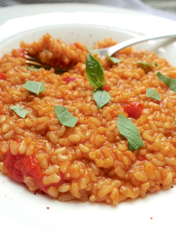 vegetarian risotto on a plate