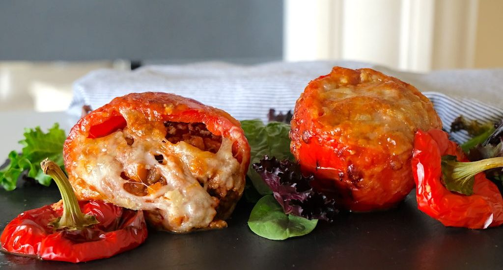 Meat Parm Stuffed Bell Peppers