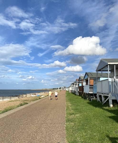 The Tankerton beach promenade
