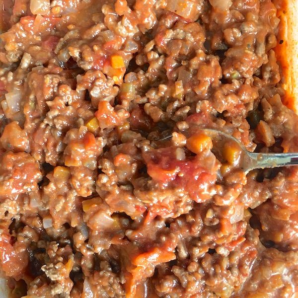 meat ragu close-up