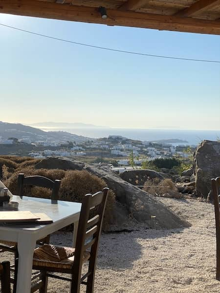The view from the restaurant