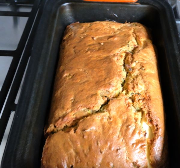 Cake out of the oven