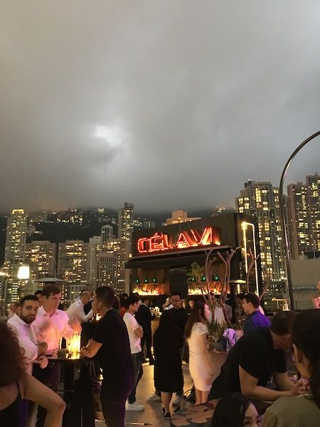 Atmosphere at the rooftop bar Ce La Vi