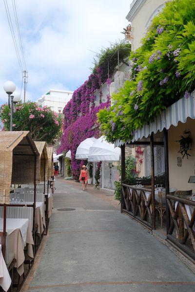 shopping and restaurant street