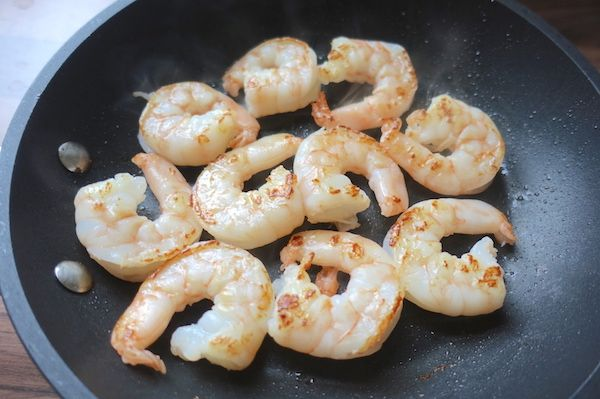 cooked prawns