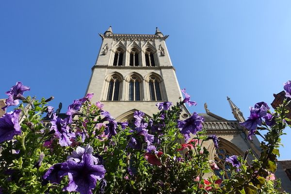 flowers-and-church