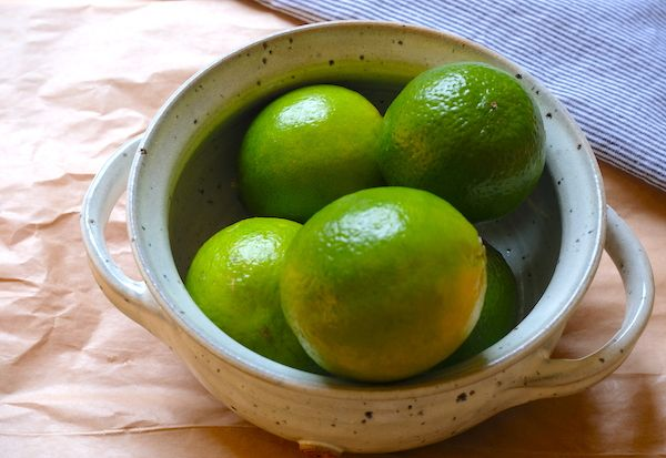 bowl with limes