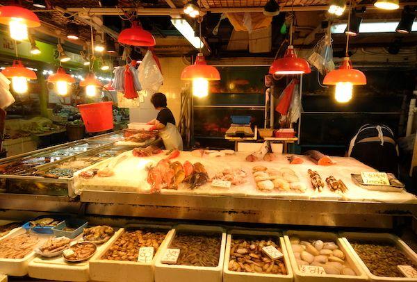 Fresh fish stand