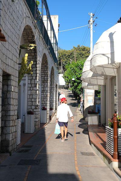 Shopping street in Capri
