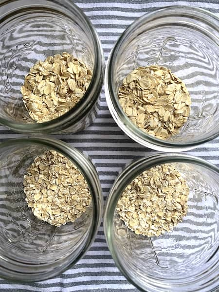 oats in the jars