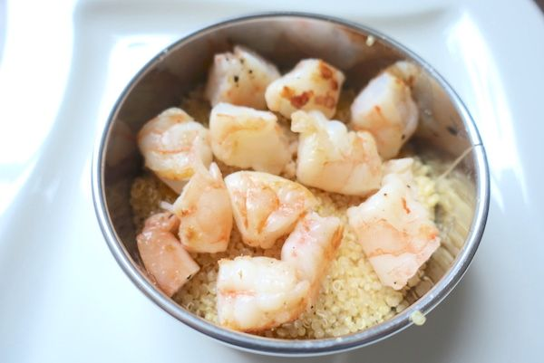 layer of prawns