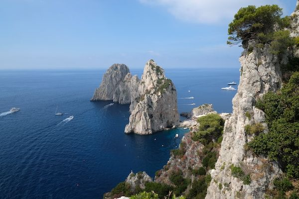 The Faraglioni sea stacks