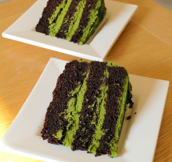sliced cake straight from the fridge