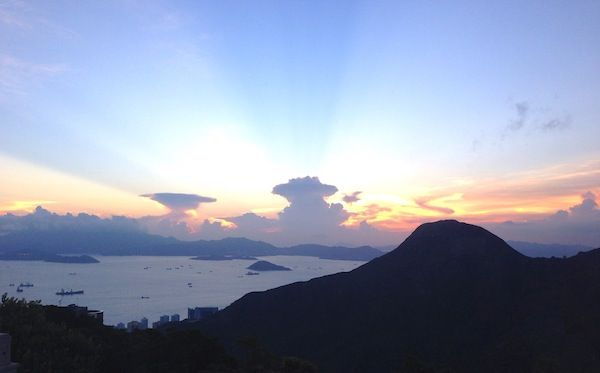 The sunset from Victoria Peak