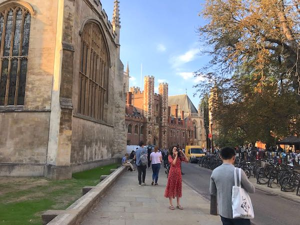 Cambridge city centre and Colleges around