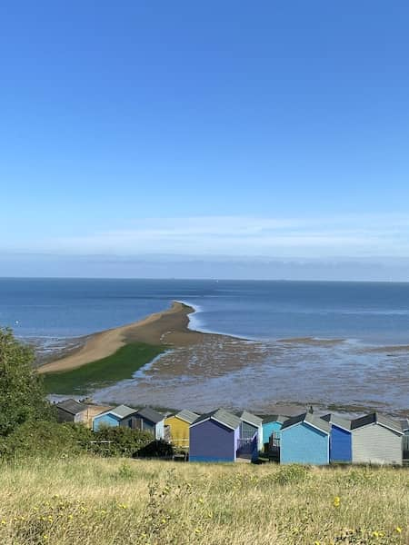 View of the low tide from the Tankerton slope