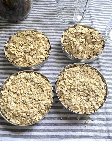 regular and jumbo oats