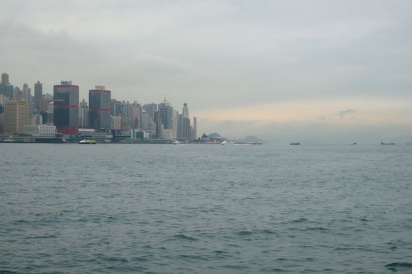 View of Hong Kong Island from Kowloon Promenade