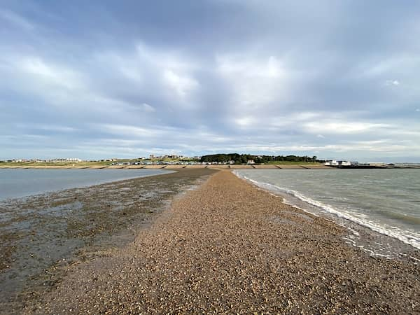 the view from the low tide